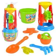 Praia de brinquedo das crianças castelo balde pá pá ferramenta brinquedo e sandbeach crianças brinquedos de praia crianças praia areia duna brinquedos