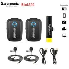 Saramonic göz kırpma 500 Blink500 B1 B2 B3 B4 B5 B6 kablosuz yaka mikrofonu mikrofon stüdyo kondenser röportaj Mic telefon için DSLR