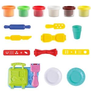 Image 2 - DIY Playdough Clay Deeg Plasticine slime Ijs Machine Mal Play Kit DIY Speelgoed Handgemaakte Noodle Maker Keuken Speelgoed Kinderen gift