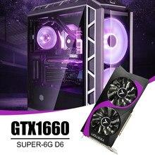 Yeston GTX1660 Super-6G D6 GB Dual Fan Gaming Dispaly Karte 1530/1785MHz 6G/192bit/GDDR6 PCI-Express 3,0 DVI-D + HDMI-Kompatibel + DP