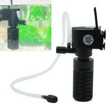 3w1 Mini akwarium filtr filtr do wody zatapialna pompa tlenu filtr Skimmer Fish zbiornik wody pompa filtr tlenu powietrza