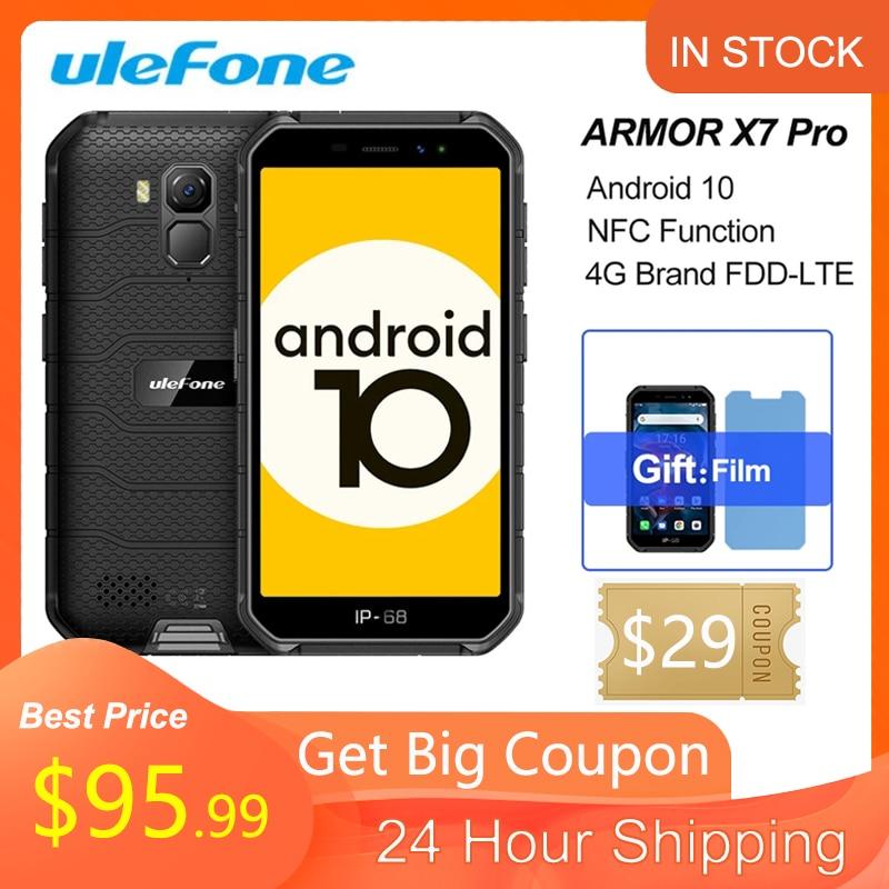 Ulefone Armor X7 Pro NFC Android 10 IP69K IP68 противоударные мобильные телефоны 4 ГБ 32 ГБ GPS сотовый телефон 4000 мАч 4G Прочный смартфон