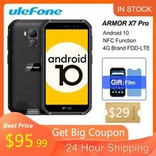 Ulefone zırh X7 Pro NFC Android 10 IP69K IP68 darbeye dayanıklı cep telefonları 4GB 32GB GPS cep telefonu 4000mAh 4G güçlendirilmiş akıllı telefon