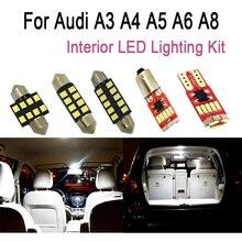 Чисто белые светодиодные с Canbus лампы Интерьер светильник крыши карта сделано светильник s комплект для Audi A3 8L 8V 8P A4 B5 B6 B7 B8 A5 A6 C5 C6 C7 A8 D2 A3