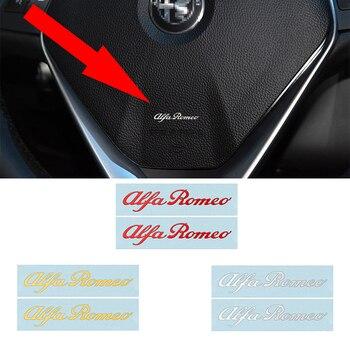 2 uds. Pegatinas de moda para coches en 3D con insignia de Metal de níquel para interiores de coches, pegatinas para 147 156 159 166 Giulietta Spider