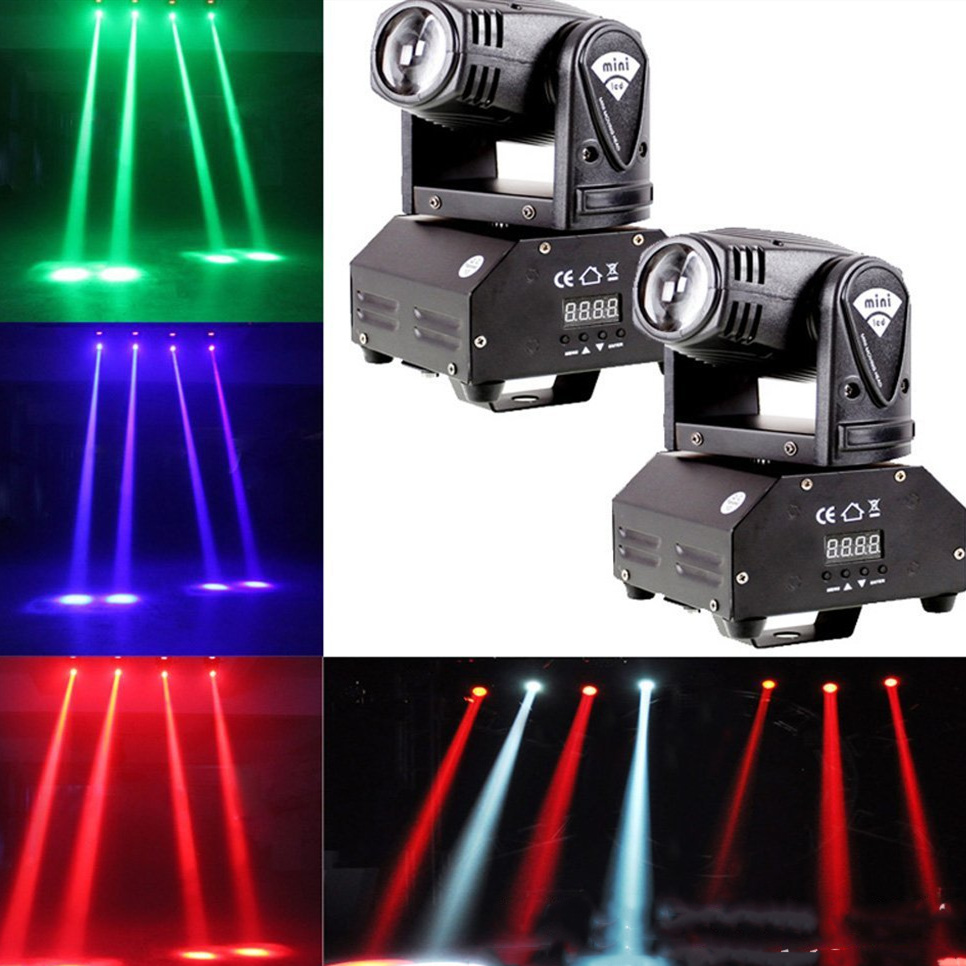 Mini Rgbw Led 10W Led Beam Moving Head Licht High Power 10Watt Quad Stroboscoop Led Sterke Straal Licht Voor Party Disco Dj Lich