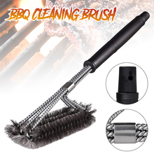 Kitchen Accessories BBQ Grill Barbecue Kit Cleaning Brush Stainless Steel Cooking Tools Barbecue Gadgets Accessories Brushes commercial electric grill barbecue kitchen bbq grill counter electrical stainless steel griddle churrasqueira eletrica eg 818b