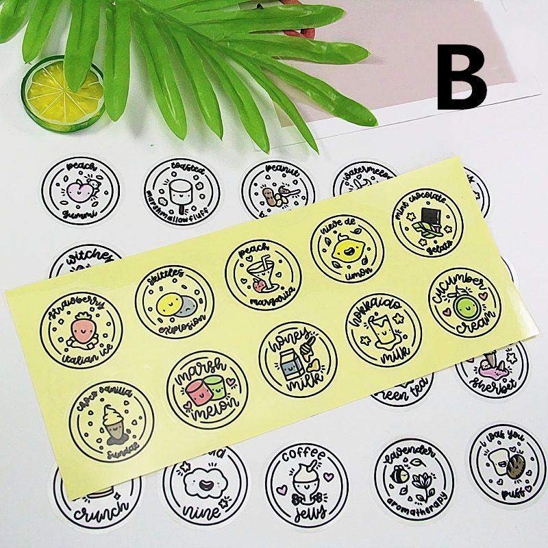 Waterproof Round Slime Sticker Containers Sticker Storage Box Sticker Slime Supplies DIY Accessories Bottle Decoration U50F