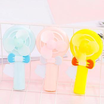 Cute Lollipop Handheld Manual Fan Mini Portable Hand Pressure Children Kids Toy