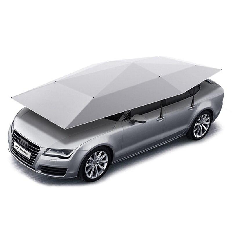 2020 Universal Mobil Penutup 4.8M 4.2M Otomatis Mobil Sun Naungan Payung Mobil Cover Tenda Anti Sinar UV Perlindungan dengan Nirkabel controller