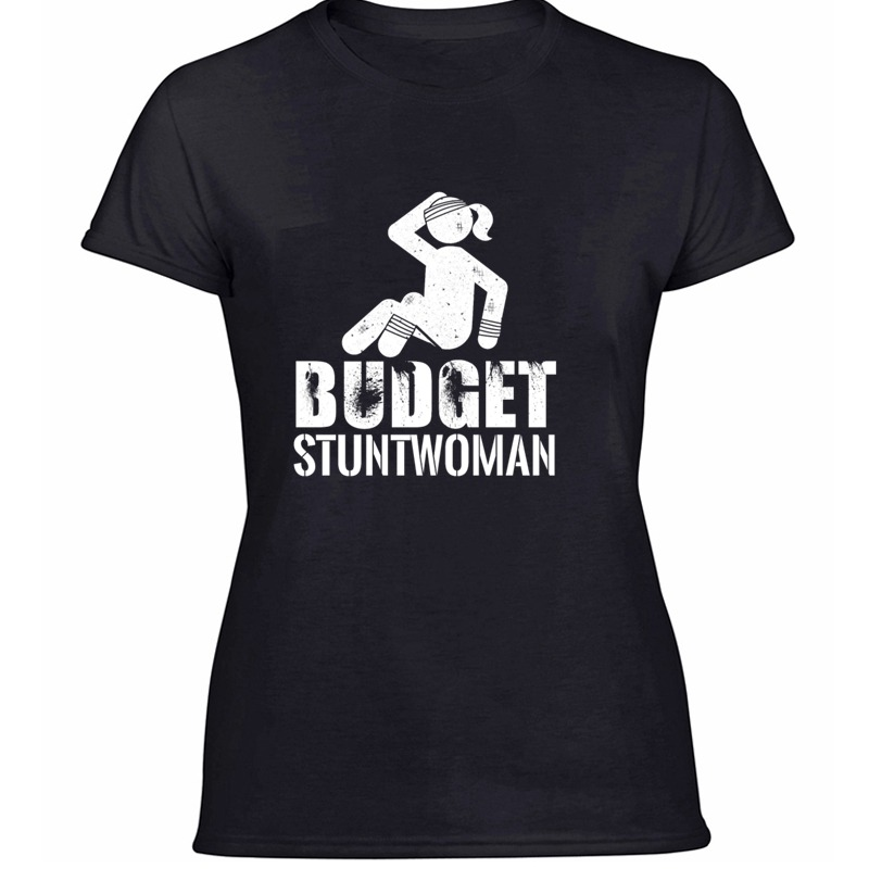 New Style Fashion Budget Stuntwoman - Broken Bones - Recovery Tshirt Cotton Boy Girl T Shirts Gray Female Camisas Shirt Tee Top image