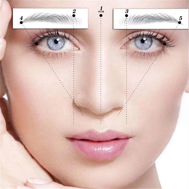Magic False Eyebrows 4D Hair-like Eyebrow Tattoo Sticker Waterproof Lasting Makeup Water-based Eye Brow Stickers Cosmetics 2