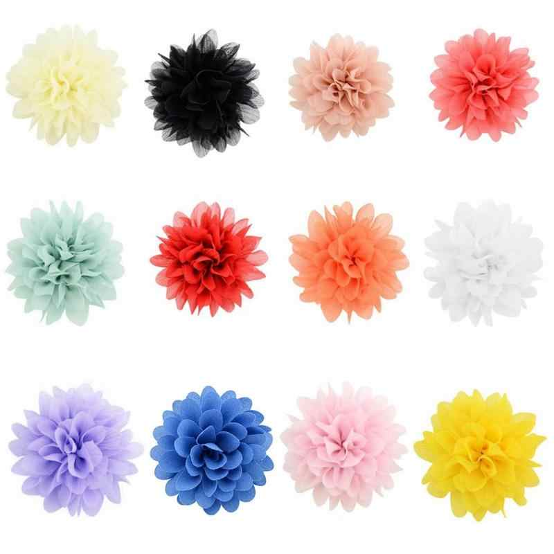 1pcs Flower Satin Hair Clip Diy Shabby Chiffon Flower Hair Bow Brooch Lace Handmade Hair Accessories Diademas Para El Pelo Mujer