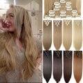 S-noilite 8 шт./компл. 24-дюймовый длинный строгий искусственный зажим для волос черный коричневый винно-красный auburn набор зажимов для волос для ж...