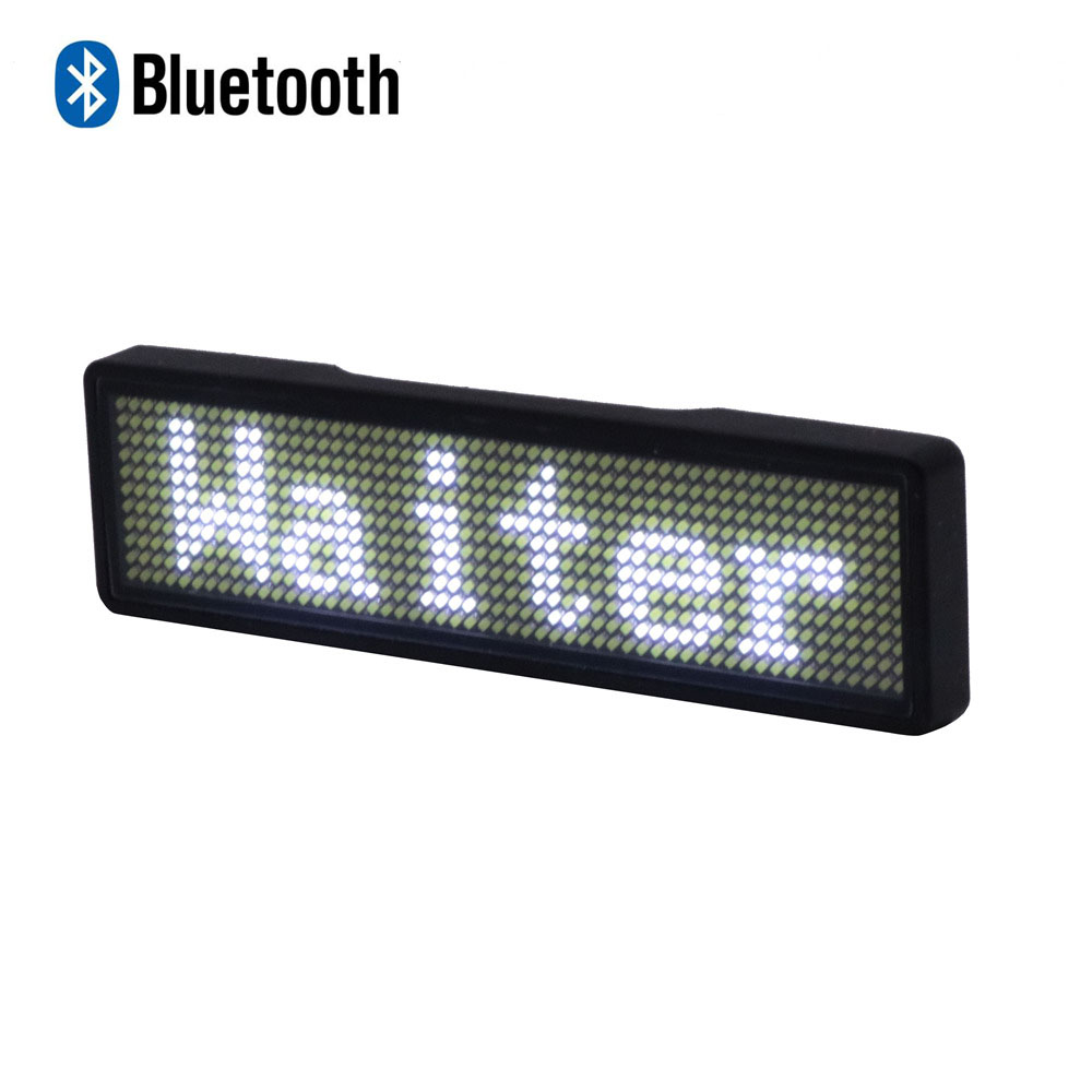 Bluetooth Electric LED Badge New Version Support Global Language Bluetooth Display 7 Colors Popular LED Name Sign For Party Show