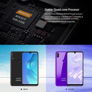 """Image 5 - Oukitel C16 Pro Android 9.0 Điện Thoại Thông Minh Mặt ID 5.71 """"19:9 Nước thả Màn Hình 3GB RAM 32GB ROM MT6761P Quad Core 4G Di động"""