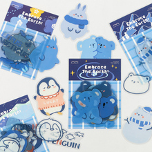 Journamm 20pcs Kawaii PET Sticky for Pad Phone Deco Cute Bear Stationery Supplies Bullet Journal Scrapbooking Label Stickers