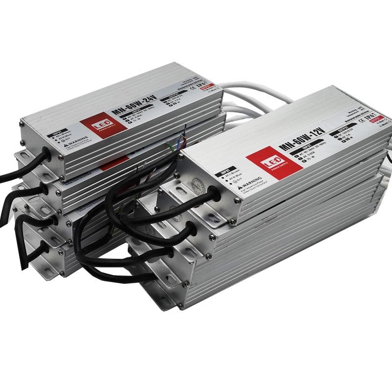 Ultra dünne IP67 Wasserdichte Led-treiber DC12V 24V Beleuchtung Transformatoren für Outdoor Licht 12V Netzteil 10W 20W 60W 100W 200W
