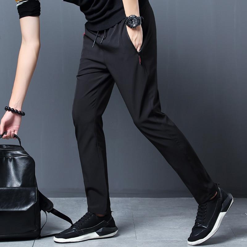 2021 New Men Pants Joggers Fitness Casual Quick Dry Outdoor Sweatpants Breathable Slim Elasticity Trouser Plus Size Men Pants 3