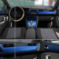 For Citroen C5 2013 2015 Interior Central Control Panel Door Handle 3D/5D Carbon Fiber Stickers Decals Car styling cutted vinyl