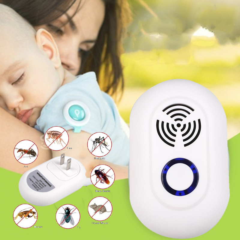 Mosquito Killer Ultrasound Trap Insect Mouserepeller Ultrasonic Pestrepeller Electronic Home Living Pest Control in Repellents from Home Garden