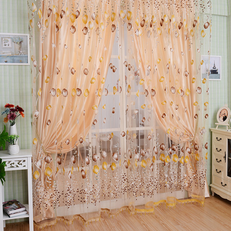 High Quality Modern Stars Window Curtains For Living Room Quality Bedroom Curtain Door Curtain For Kitchen