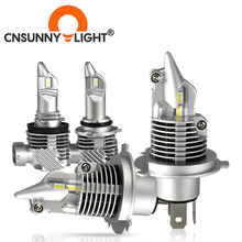 CNSUNNYLIGHT yüksek kaliteli H11 H4 H7 Mini LED araba far ampulü 9005 9006 HB3 HB4 H8 6000K beyaz oto sis işıkları aksesuarları 12V