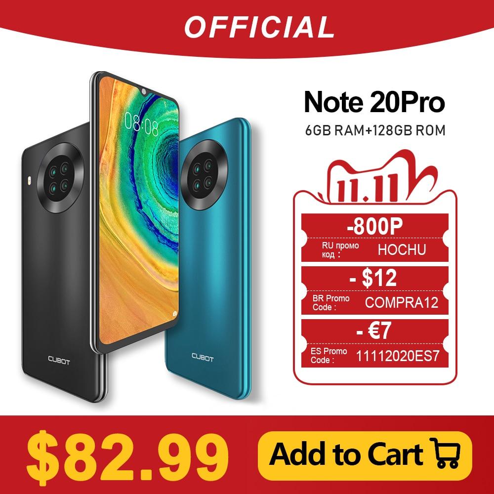 Cubot Note 20 Pro Quad Camera Smartphone NFC 6GB+128GB 6.5 Inch 4200mAh Android 10 Dual SIM Telephone 4G LTE celular Note20 Pro|Cellphones| - AliExpress