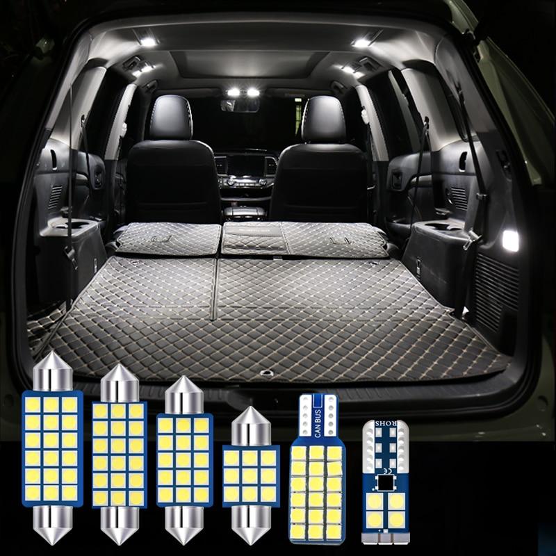 6pcs Error Free LED Bulbs Car Interior Dome Reading Lamps Trunk Lights For Infiniti FX35 FX37 FX50 2007-2009 2010 2011 2012 2013