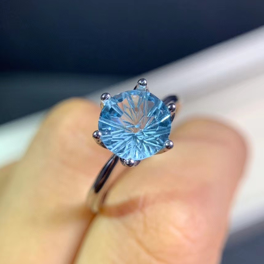 Natural topaz ring, water drop gemstone, simple style, hot sale. From natural gem store