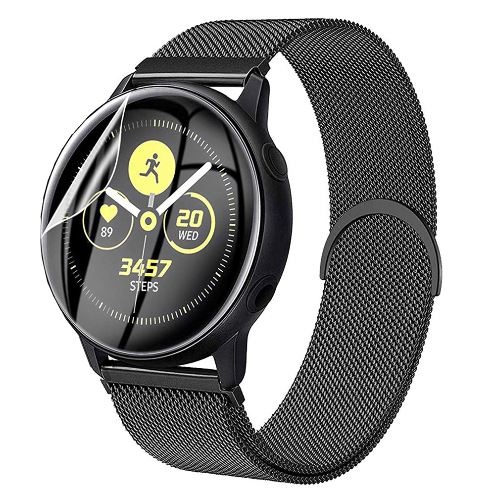 20mm 22mm TPU Soft Protective Film Cover + Band For Samsung Galaxy Watch 46mm Gear S3 Frontier Active 2 Strap Mesh Loop Bracelet