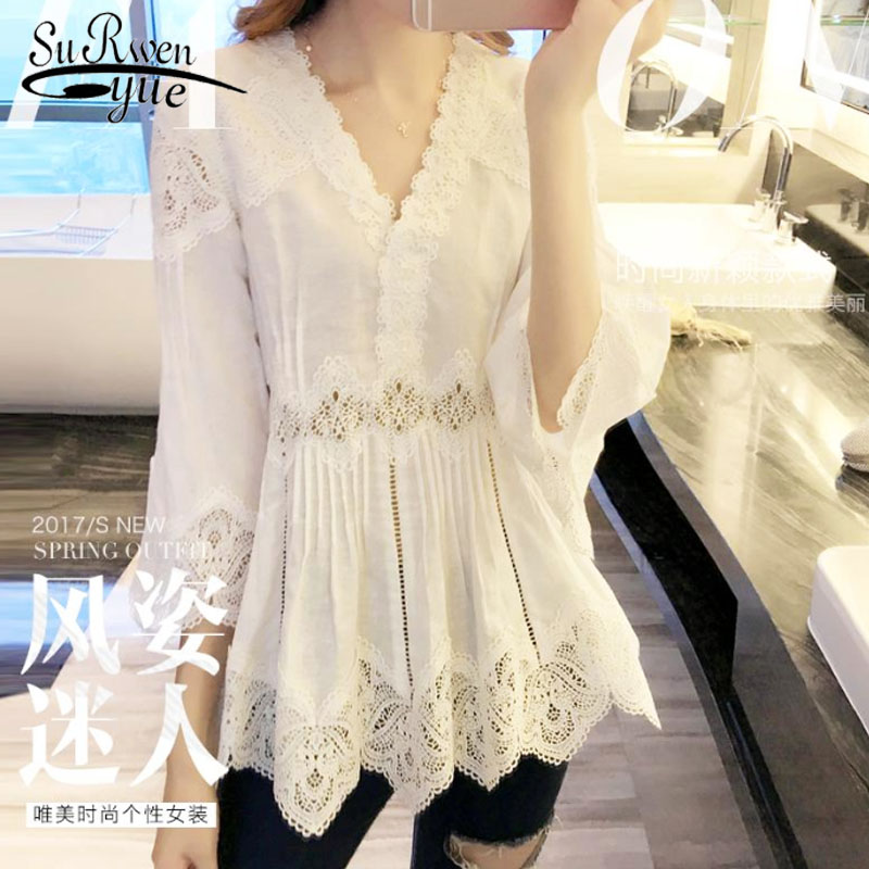 H1951da41f06e424cbcceaf3e0a9def68g 2019 ladies tops Fashion Women's Clothing Wild Perspective Small Shawl Chiffon Lace  Lacing Boleros shirts tops 802E 30