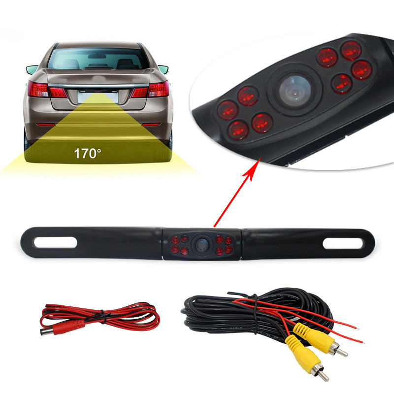 Metal Long License Plate With 8 Lamp Rearview Camera Cross Border Electricity Supplier For On Board Camera PZ413-8A