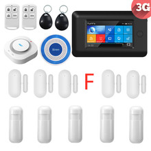 PGST 3G WIFI Wireless Smart Home Security Alarm System with Full Touch Host Alarm APP Control SMS Alarm smartyiba app push sms voice monitoring wireless wifi smart home burglar alarm sensor alarm with ip camera wireless siren horn