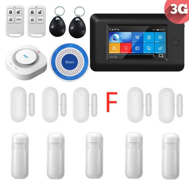 PGST 3G WIFI bezprzewodowy inteligentny system alarmowy do domu z w pełni dotykowy Alarm hosta kontrola aplikacji Alarm sms