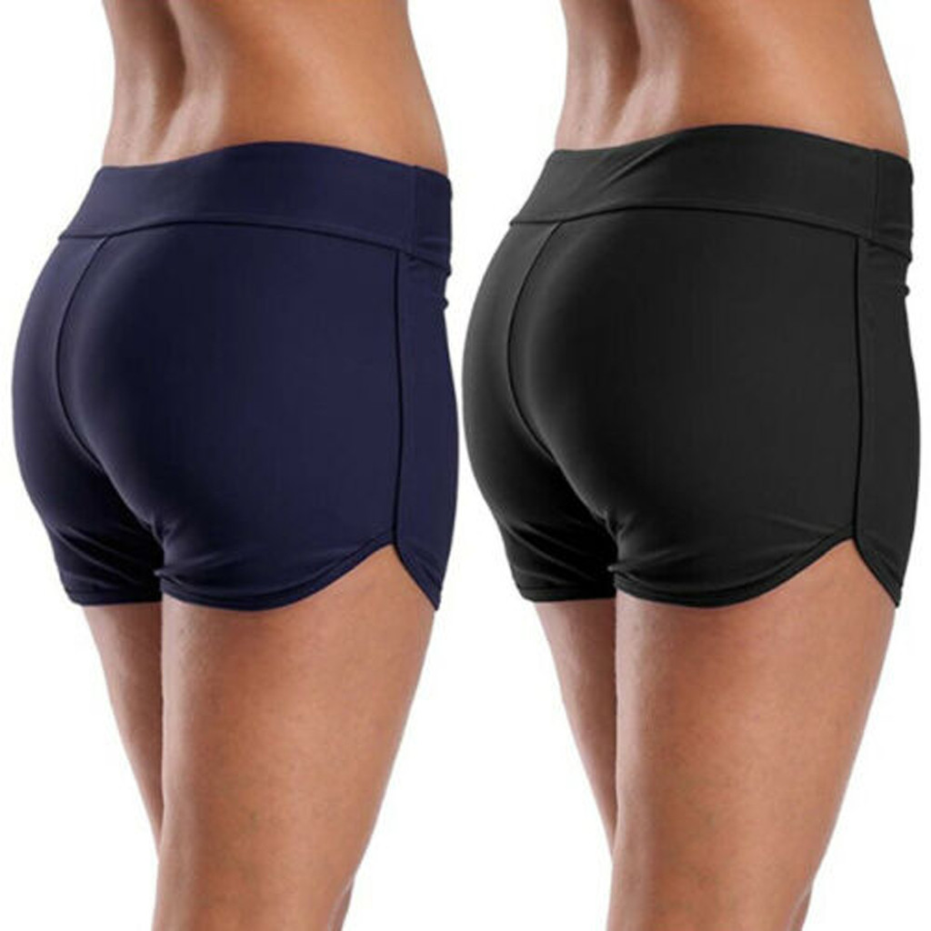 Women Black Blue Swim Bikini Bottom Tankini Shorts Swimwear Beach  Swimwear Beach Wear Black 2020 Fashion