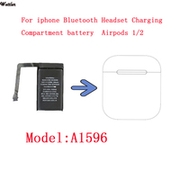 A1596 Real 400mAh batería para los Airpods 1 2 caja de carga batería A1596 020-00098