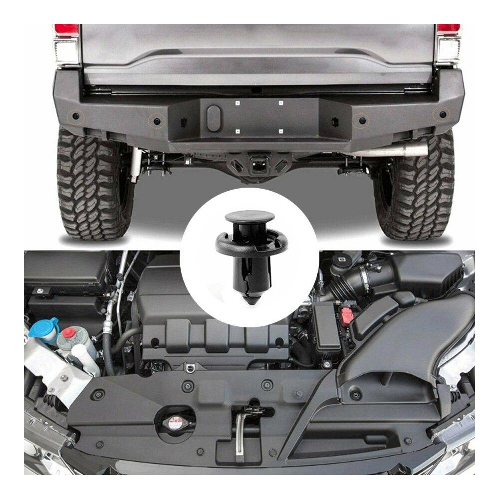 150x 10mm Car Door Fender Hole Plastic Rivet Trim Panel Retainer Bumper Clips MM