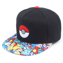 Anime Pokemon Men Hip Hop Hat Female Baseball Cap Fashion Personality Cartoon Adjustable With
