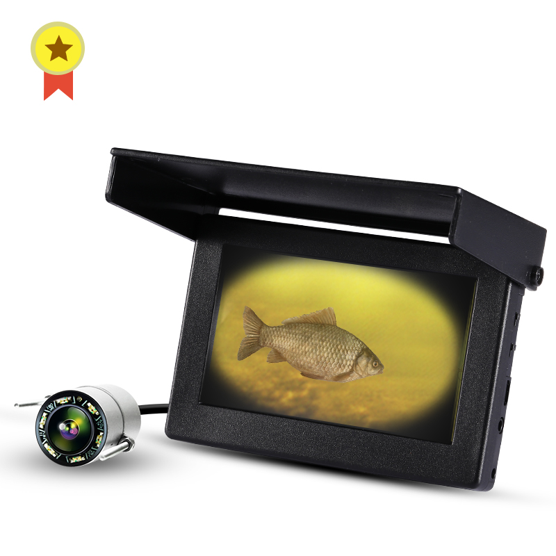 LUCKY underwater 1000TVL Fish Finder Underwater Fishing turbid water Camera 6pcs Infrared Lamp For Ice/Sea