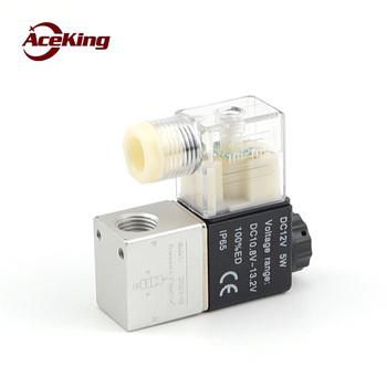Solenoid valve 2-bit 2-way solenoid reversing valve 2-hole valve normally closed DC24V AC220 fluid control pneumatic valve 1pcs free shipping pneumatic valve solenoid valve 3v410 15 no normally open dc24v ac220v 1 2 3 port 2 position 3 2 way