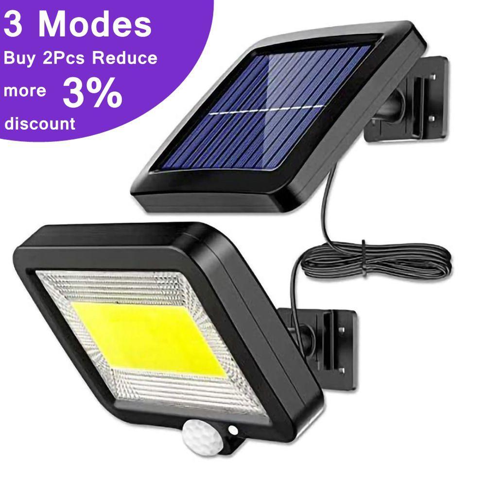 120LED светильник на солнечных батареях на открытом воздухе с датчиком движения, солнечный светильник, водонепроницаемая настенная аварийная уличная Лампа безопасности для украшения сада|Светодиодные солнечные лампы|   | АлиЭкспресс