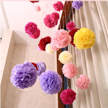 5pcs Tissue Paper Ball Pompom Flower for Wedding Home Decoration Papers Pom Poms Flowers for Baby Birthday Party Decor 4''-12'' 5pcs 20cm multiple colors tissue paper pom poms flower balls party wedding home birthday supplies home decorations