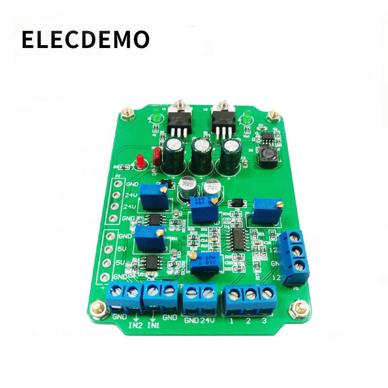 AD620 module High Gain Instrumentation Amplifier AD620 Transmitter Voltage Amplifier Module Dual Differential Output-in Demo Board Accessories from Computer & Office