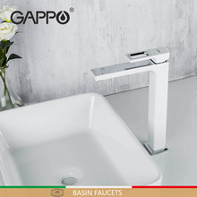 Gappo Hohe Weiß Becken Armaturen Spray Malerei Wasserfall Bad Bad Waschbecken Wasserhahn Hot Cold Water Mixer Kran Torneira G1017-2