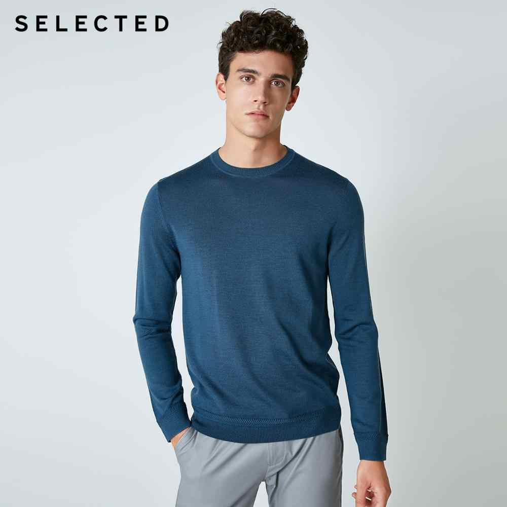 SELECTED 뉴 이탈리아 메리노 울 스웨터 남성 퓨어 컬러 남성 풀오버 니트 의류 S | 418424503