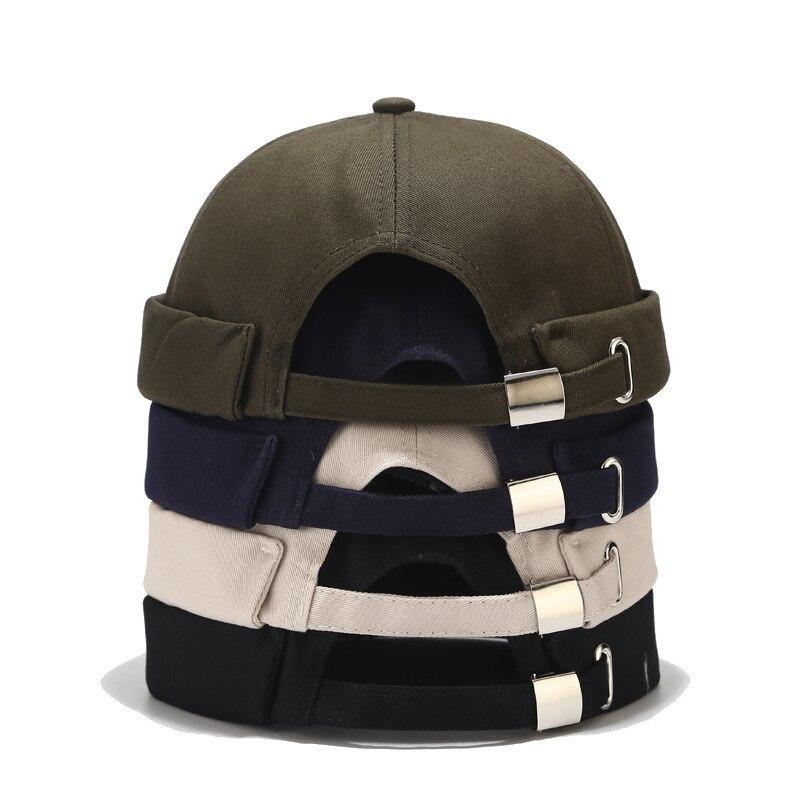 Unisex Docker Sailor Biker Cap Men Adjustable Casual Brimless Skull Loop Beanie Hat Solid Men Hat Summer Women's Hats