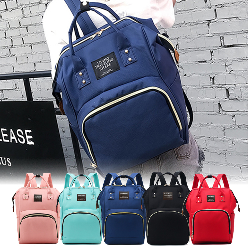 Mammy Bag Oxford Cloth Commuting Backpack Maternity Travel Picnic Large Nappy Printed Baby Bag Multi-Function Diaper Daily Bags