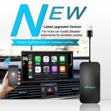 Joyeauto Apple kablosuz Carplay Dongle Mercedes Audi iOS navigasyon 2016 2020 Mini USB aktivatör Airplay araba çalıştır adaptörü