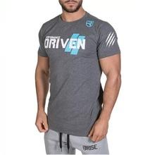 Fitness T-Shirt Running-Sport Short-Sleeve Gym Workout Bodybuilding Mens Male Cotton